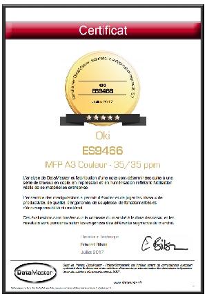 DataMaster : DataMaster Lab accorde 5/5 étoiles à la machine MFP ES9466 de OKI