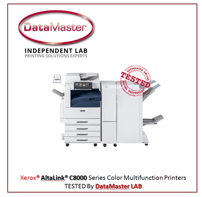 Printer Benchmark : DataMaster Labs tests the Xerox AltaLink range of SRA3 / 12x18 MFPs