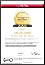 DataMaster : DataMaster Lab accorde 5 étoiles aux MFP AltaLink de Xerox