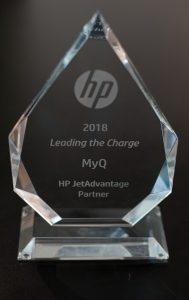 DataMaster : MyQ récompensée par HP