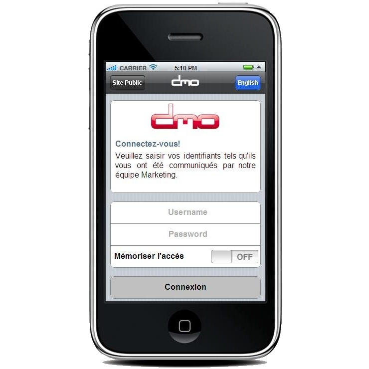 DataMaster : DMO sur iPhone, lancement le 22 mars !