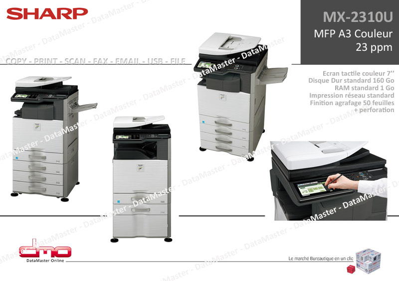 DataMaster : Sharp lance le nouveau MX-2310U !