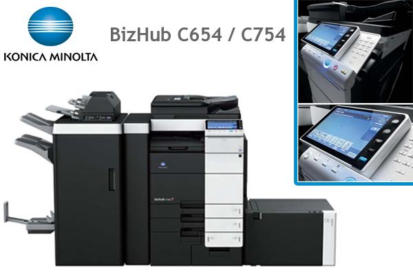 DataMaster : Konica-Minolta dévoile sa toute nouvelle interface sur les nouveaux BizHub C654 et C754