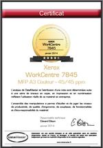 DataMaster : Les certificats d'évaluation des Xerox WorkCentre 7845 et 7855 sont disponibles sur DMO