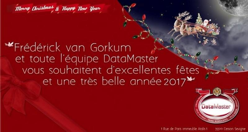 DataMaster : DataMaster vous souhaite une très belle année 2017 !