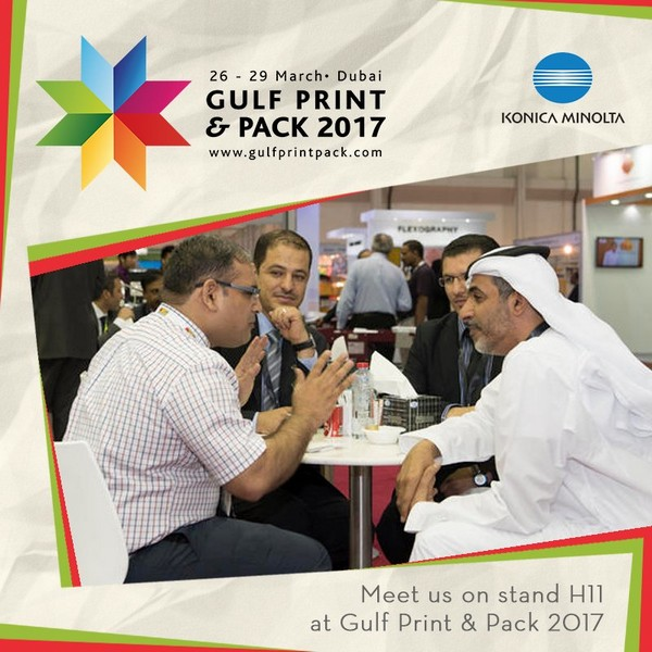 Printer Benchmark : Konica Minolta presents the Accurio brand and launches the bizhub Press C71cf at Gulf Print & Pack 2017