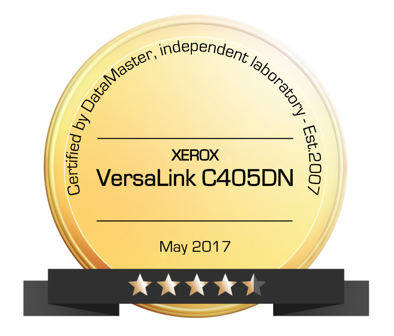 Printer Benchmark : DataMaster gives 4.5 stars to the Xerox VersaLink B405DN A4 color MFP